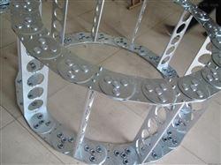 宽度可定做框架式机床钢铝拖链
