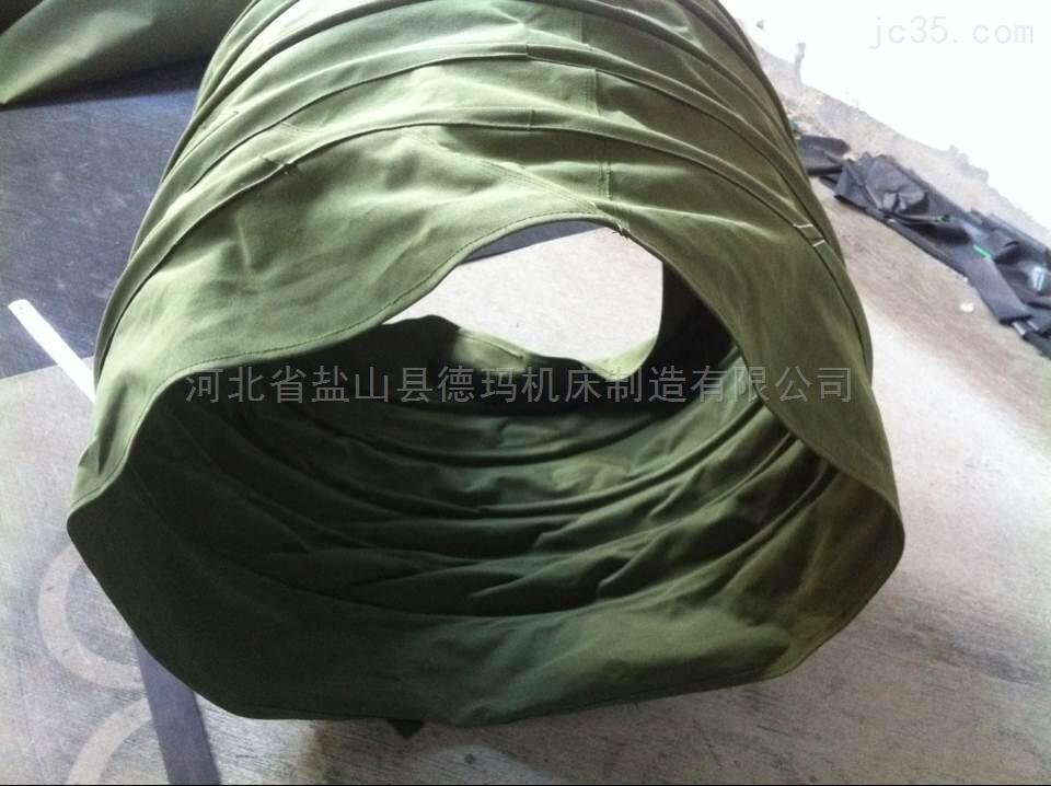 自定-工业黑色硅胶布伸缩软连接
