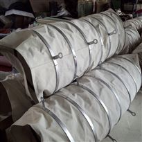自定通风耐磨石棉布散装机伸缩软连接用途