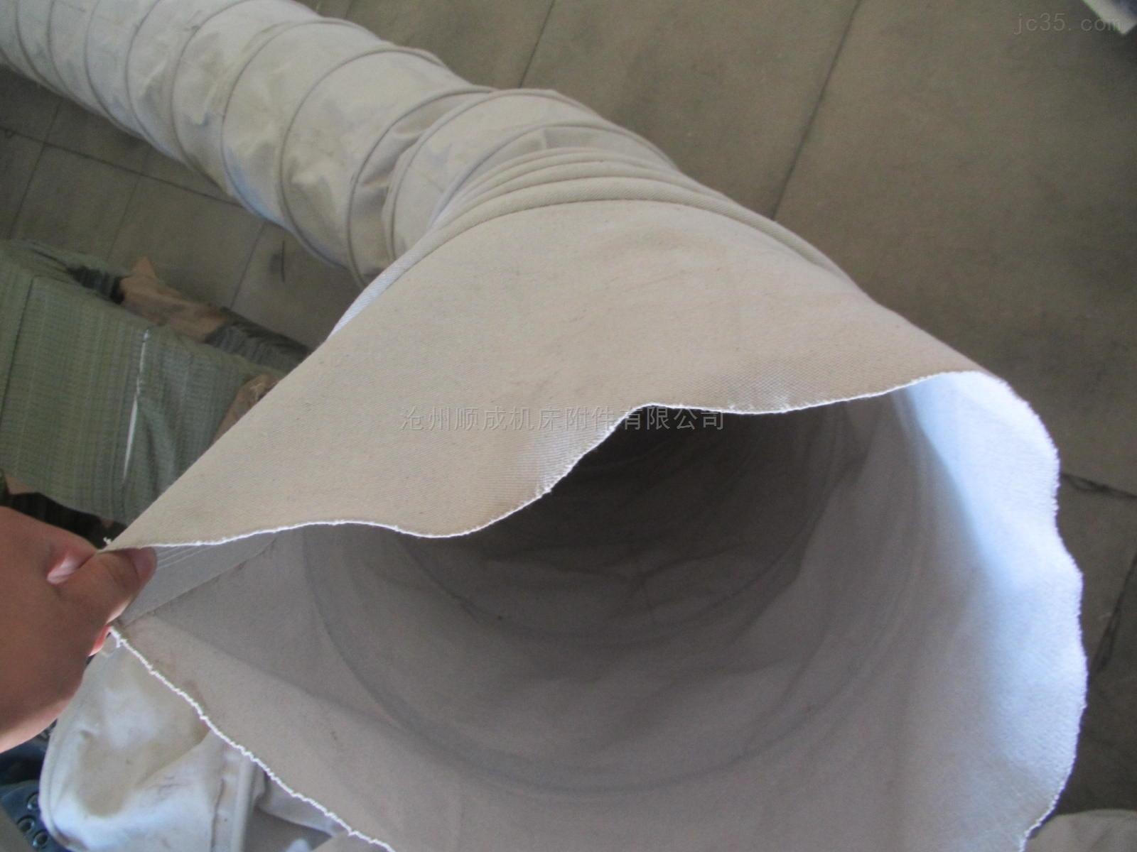 出料口帆布除尘水泥伸缩布袋