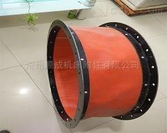 供应耐高温帆布软连接 硅橡胶布通风管道