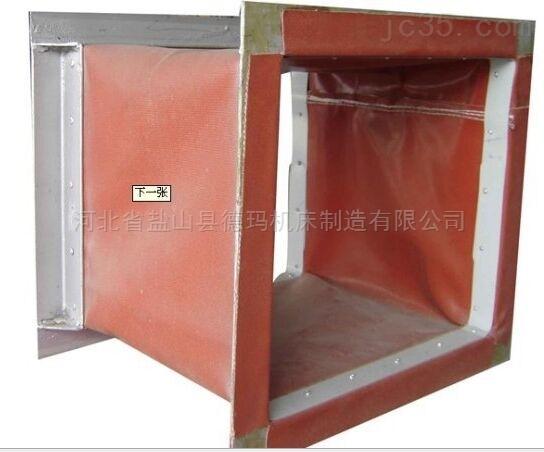 自定-耐高温300度方形防震伸缩软连接厂家