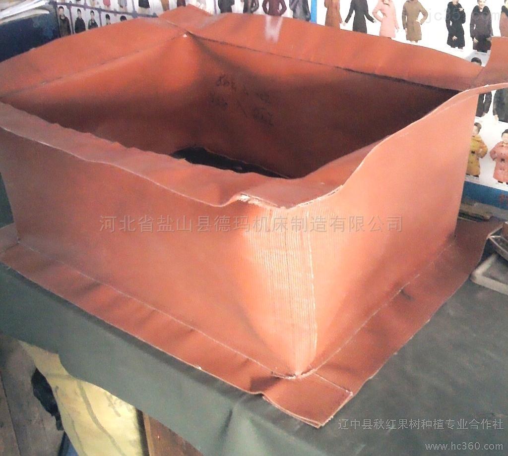 自定-高温整烫设备专用防火帆布软连接厂家