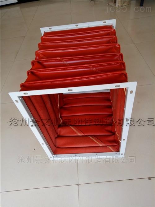 方形硅胶布耐高温风道口软连接报价