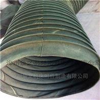 自定綠色帆布粉塵輸送軟連接廠家報價