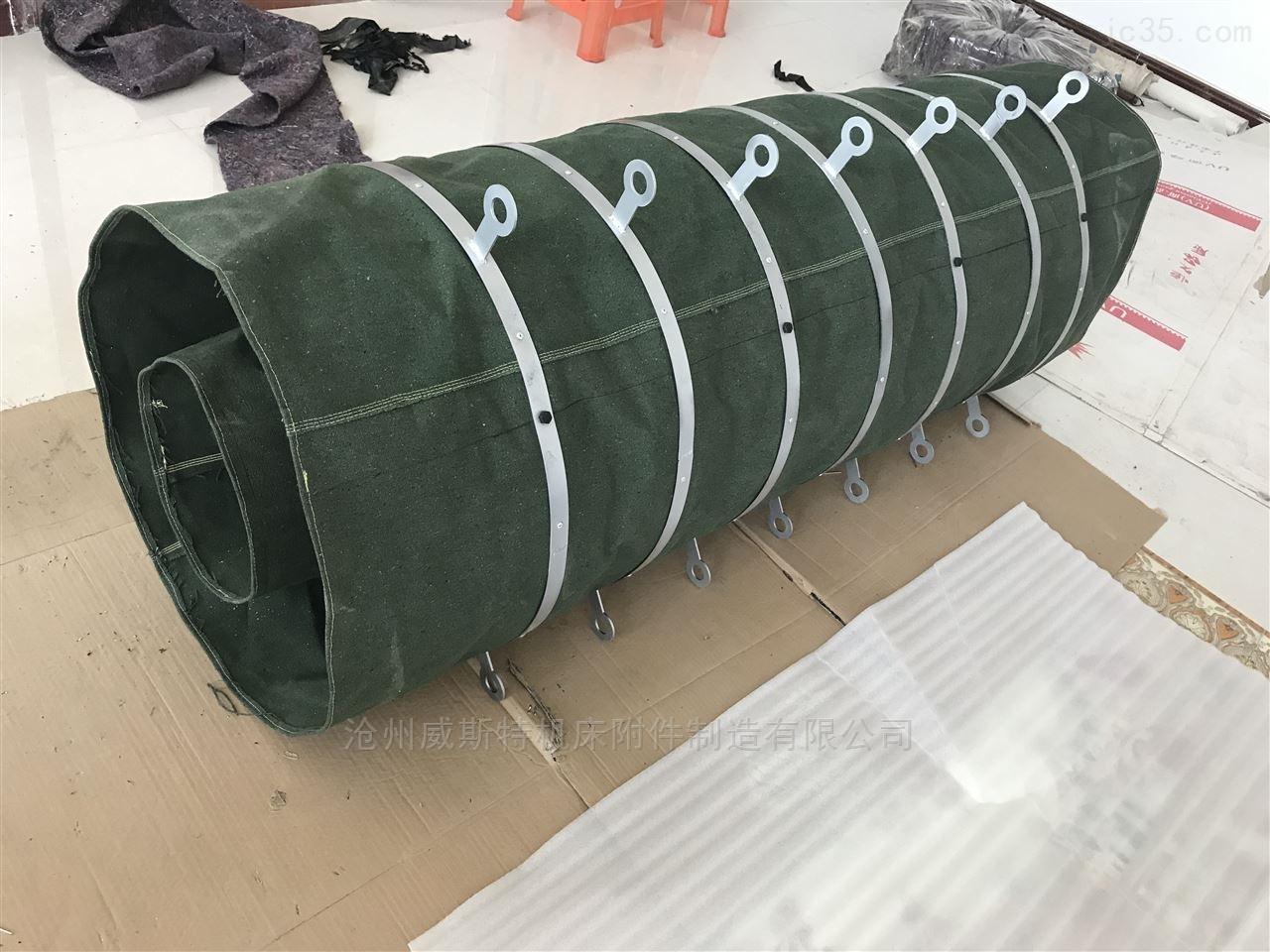 水泥罐车加厚耐磨帆布输送伸缩布袋