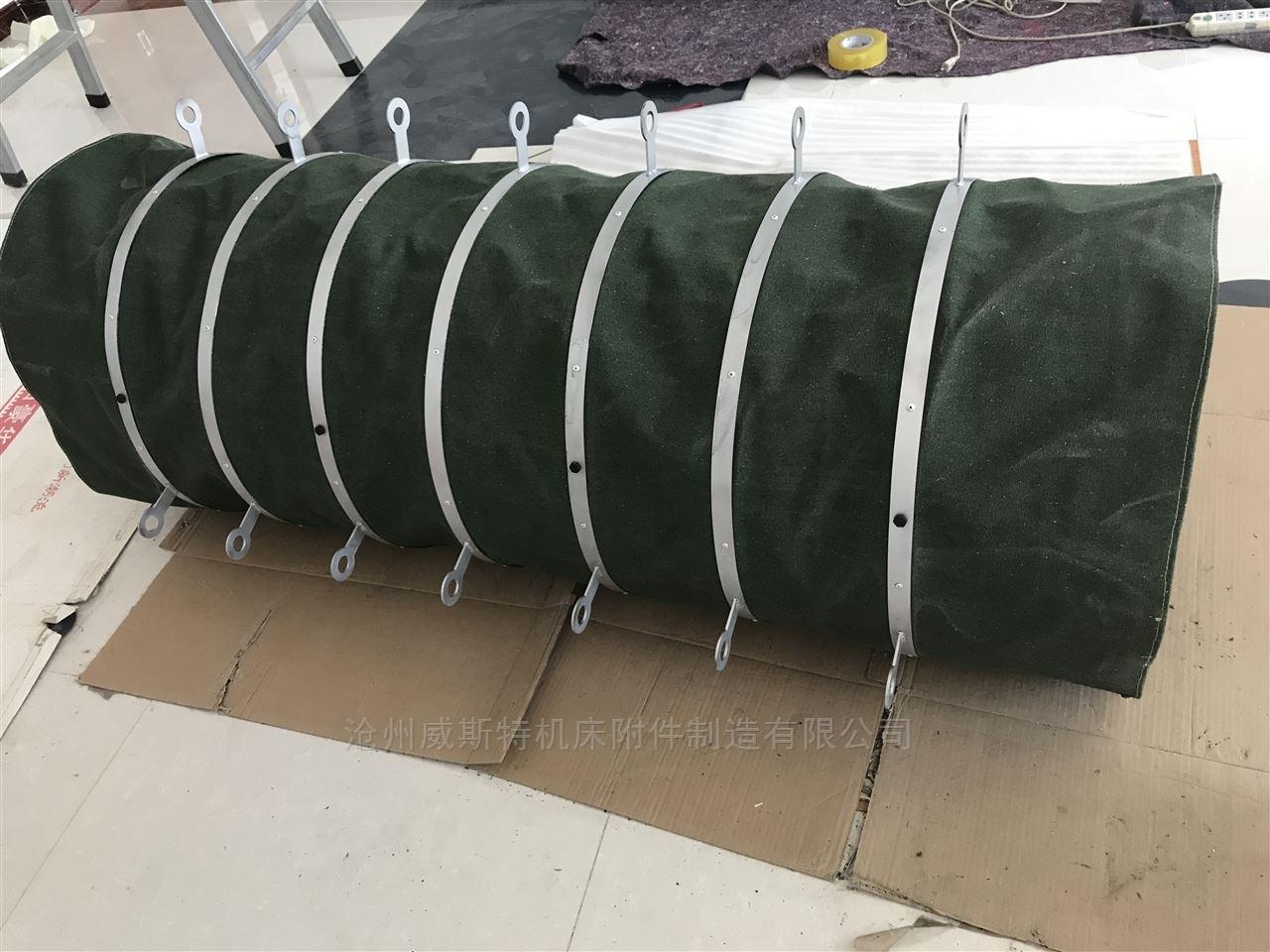 湖北水泥帆布伸缩卸料耐磨布袋