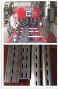 数控锌钢铝材展示架百叶窗全自动开孔机