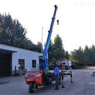 自卸后翻带车斗移树吊车改装5吨三轮吊车