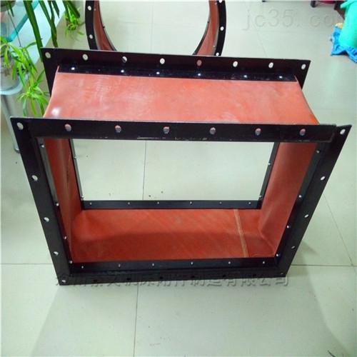离心风机红色硅胶布高温软连接价格