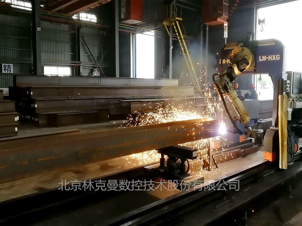 北京林克曼智能型钢切割机螺栓孔的切割方法